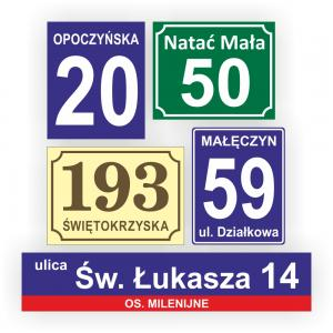 Tabliczki adresowe 1
